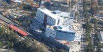 最近のオースチン病院を空から見る