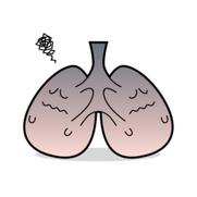 癌に侵された肺です