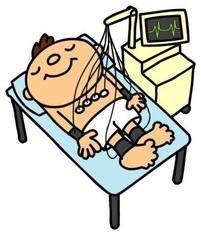 心電図検査です。これでいろんな病気がわかります