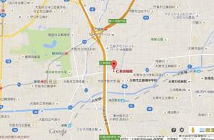 仁泉会病院拡大地図