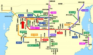 近鉄路線図